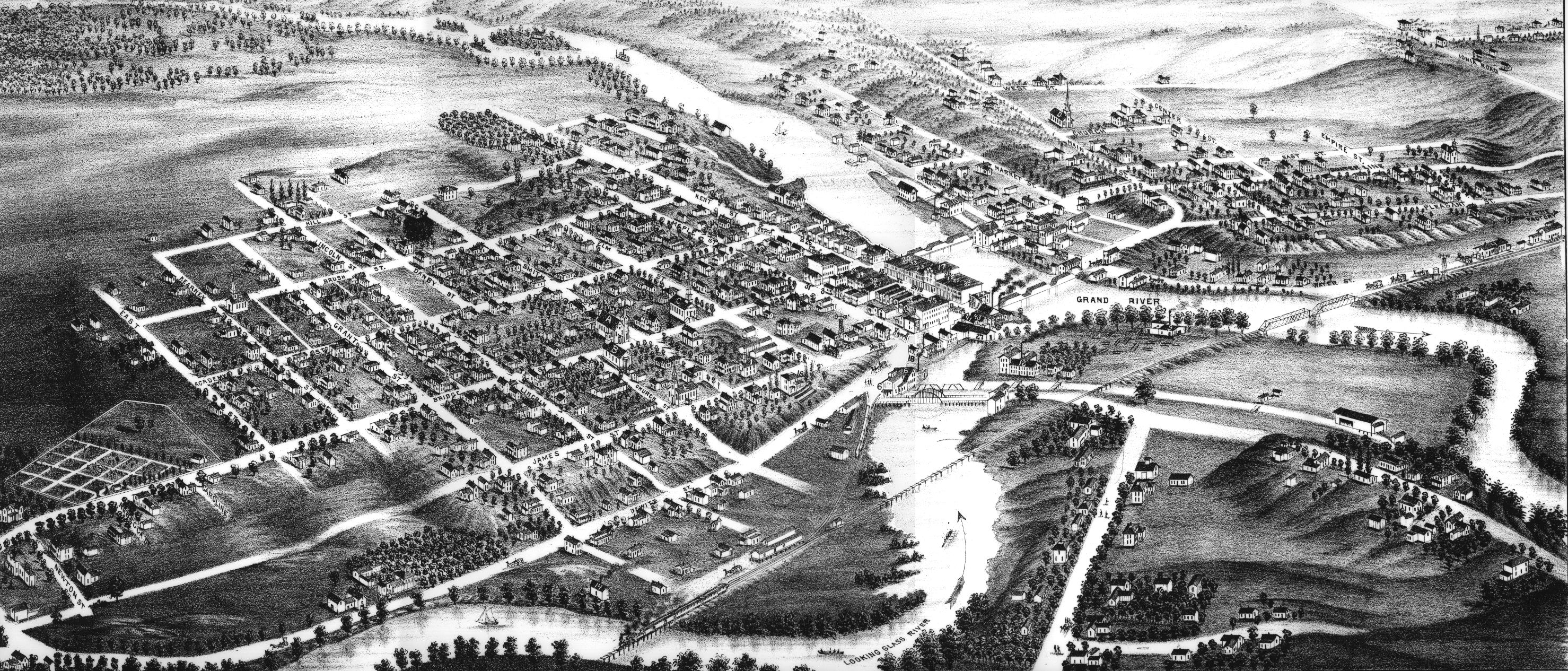 Portland Michigan Map Of 1881