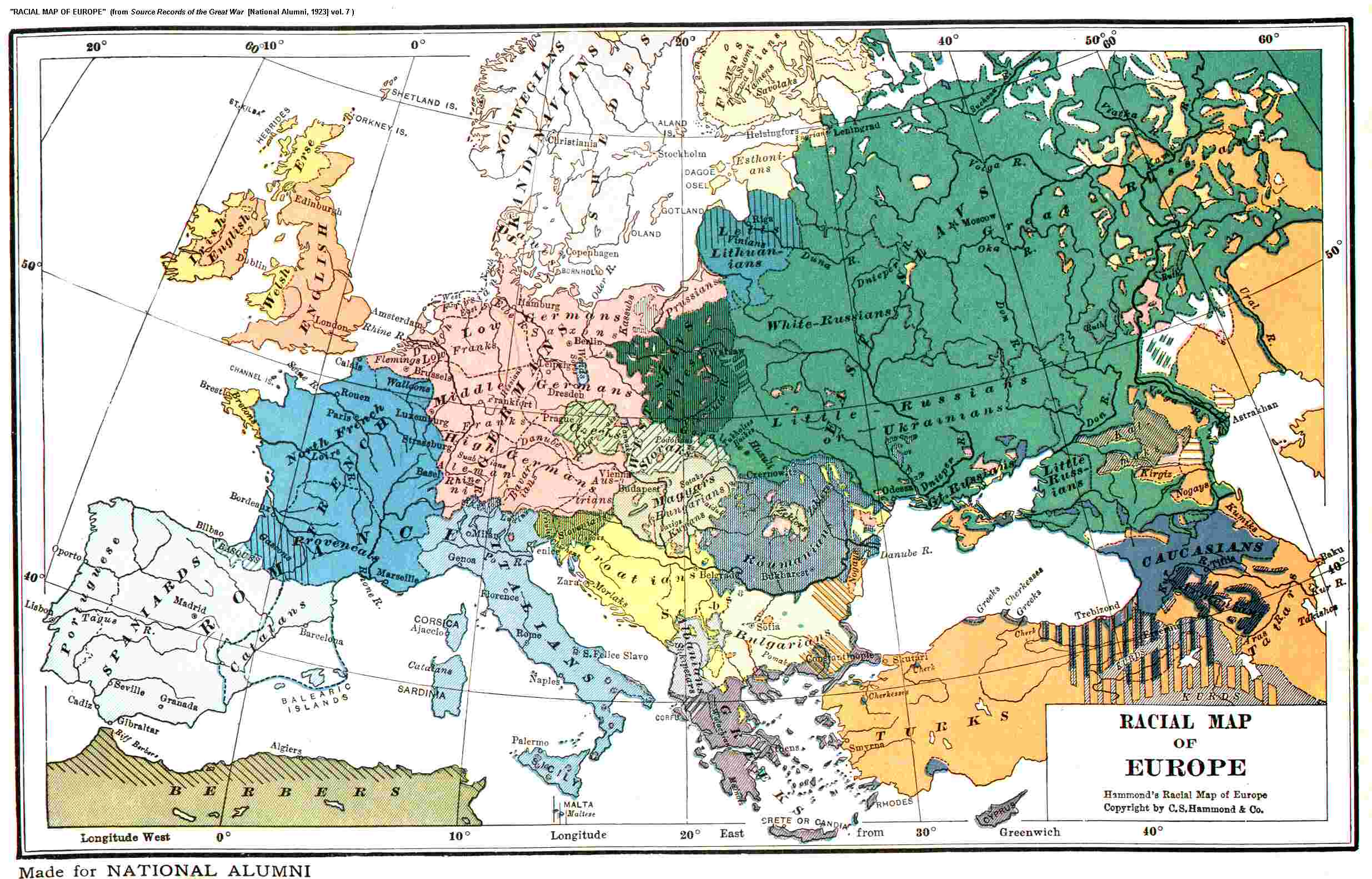 Political map of europe 1939